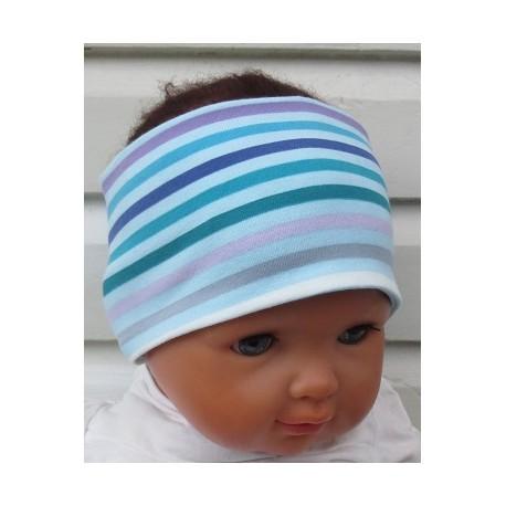 Haarband Baby Kinder Mädchen Bunt mit Streifen Sommer aus Jersey genäht. Auch mit Mittelteil. KU 36-55 nach Wunsch.