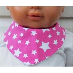 Halstuch Kinder Pink Sterne für Mädchen aus Jersey zum Wenden genäht. Ein Stirnband im Shop. 0-8 Jahre nach Wunsch.