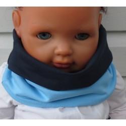 Schlupfschal Kinder Baby für Jungen Blau Dunkelblau aus Jersey zum Wenden genäht. KU 39-55 nach Wunsch.