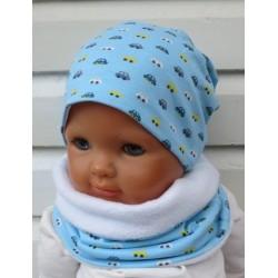 Mütze Schal Set Baby Kinder für Jungen mit Beanie und Halssocke genäht. Ein Stirnband im Shop. KU 39-55 nach Wunsch.