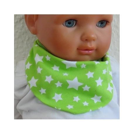 Wendetuch Baby Junge Sommer Grün Sterne Weiß aus Jersey genäht. Partnerlook im Shop. 0-10 Jahre nach Wunsch.