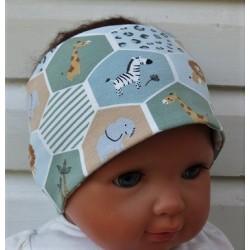 Haarband Kinder Sport Jungs Jersey Grün mit tollen Motiven genäht. Wendetuch im Shop. KU 36-55 nach Wunsch.