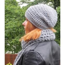 Damen Mütze Beanie Grau