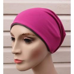 Beanie Mütze Damen in tollem Pink und Dunkelgrau zum Wenden genäht. Fürs ganze Jahr. Farben, KU 54-62 nach Wunsch.