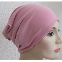 Jersey Mütze Beanie Damen Altrosa zum Wenden genäht. Wunderschön als Long. Farbe, KU 54-62 nach Wunsch.