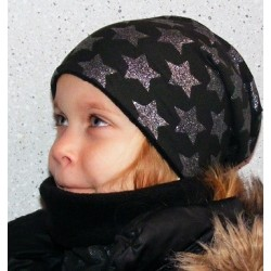 Wintermütze Kinder Stern Glitzer