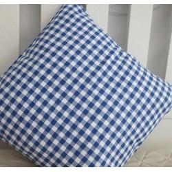 Kissenbezug Landhaus Blau Weiß kariert Baumwolle genäht. Handarbeit. 40x40, 45x45 oder als Set nach Wunsch.