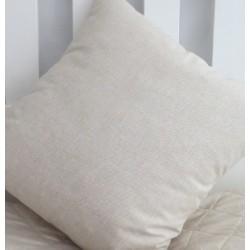 Kissen Landhausstil Beige Leinenoptik aus Baumwolle genäht. Angebot beinhaltet einen Bezug. 40x40, 45x45, als Set nach Wunsch.